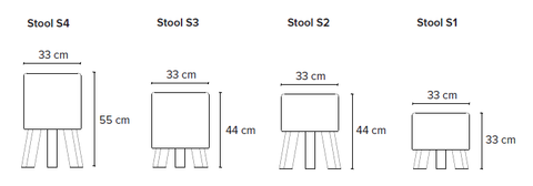 Bent Hansen Stool Size Options