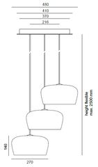 Formagenda Coppola Chandelier Dimensions