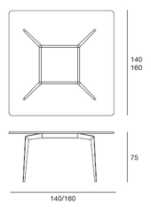Hope Dining Table - Dimensions