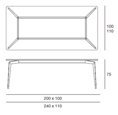 Hope Dining Table Dimensions
