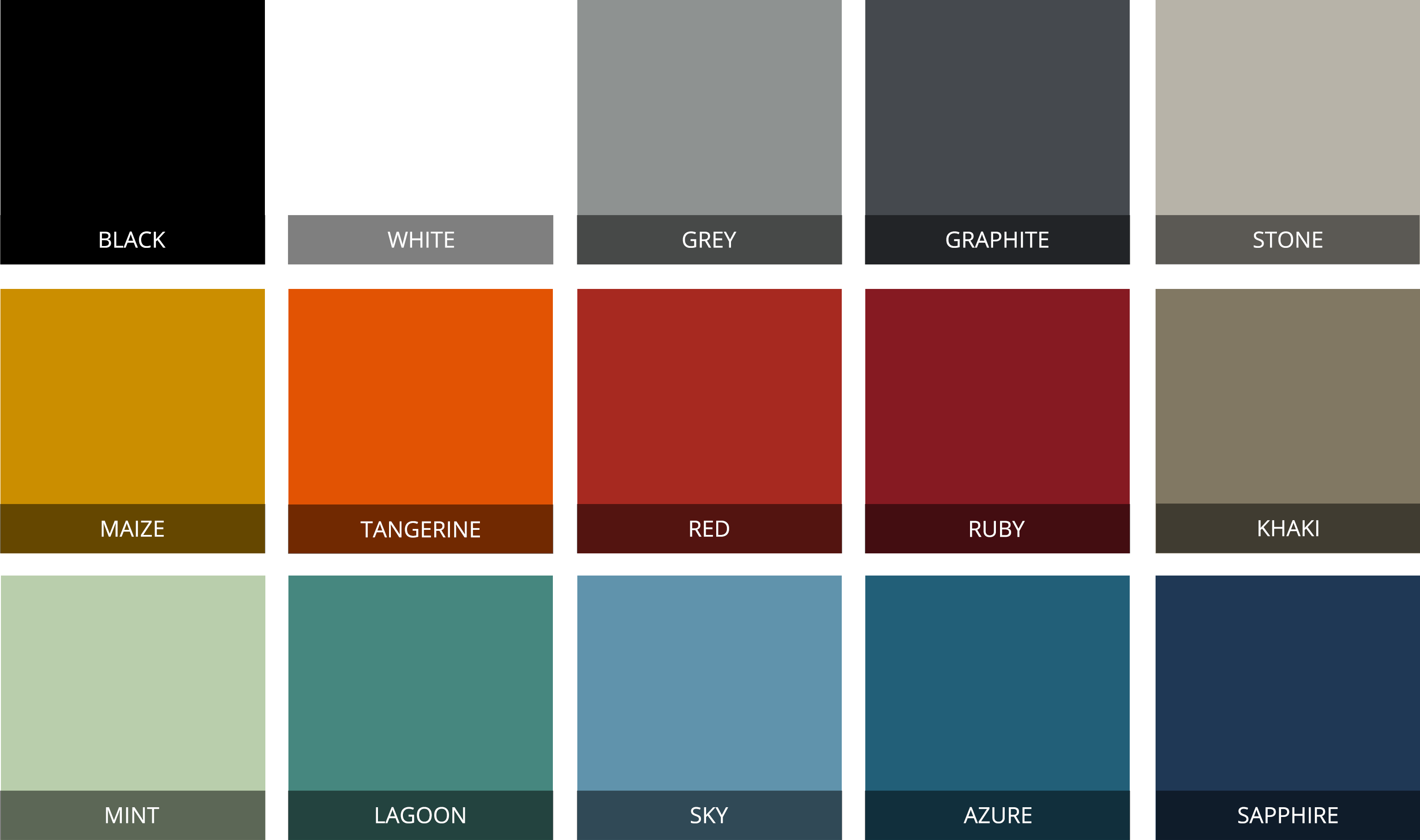 MEME Design - Freeline Coffee Table Colour Swatches