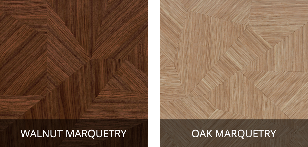 Mobenia Carey Bar Cabinet - Marquetry Swatches