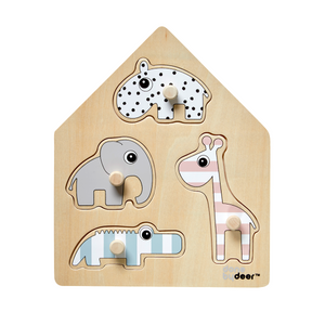 Animal Peg Board Puzzle | Urban Avenue
