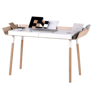 My Writing Desk in White and Wood | Urban Avenue