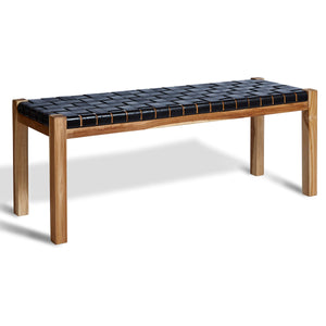 Encoded Leather Bench | Urban Avenue