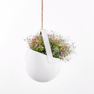 Sling Hanging Planter - White