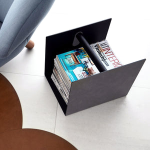 Leather and Oak Container | Urban Avenue
