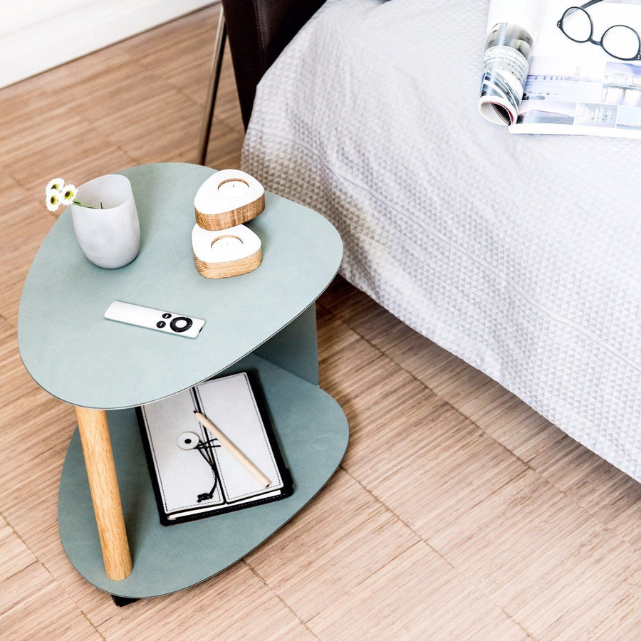 Curve Leather Side Table | Urban Avenue
