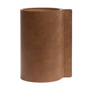 Block Leather Vase | Urban Avenue