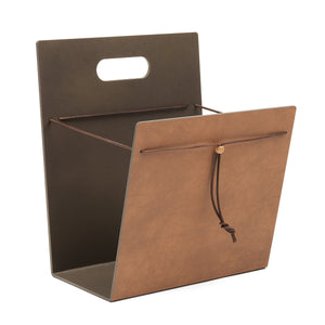 Leather Magazine Holder | Urban Avenue