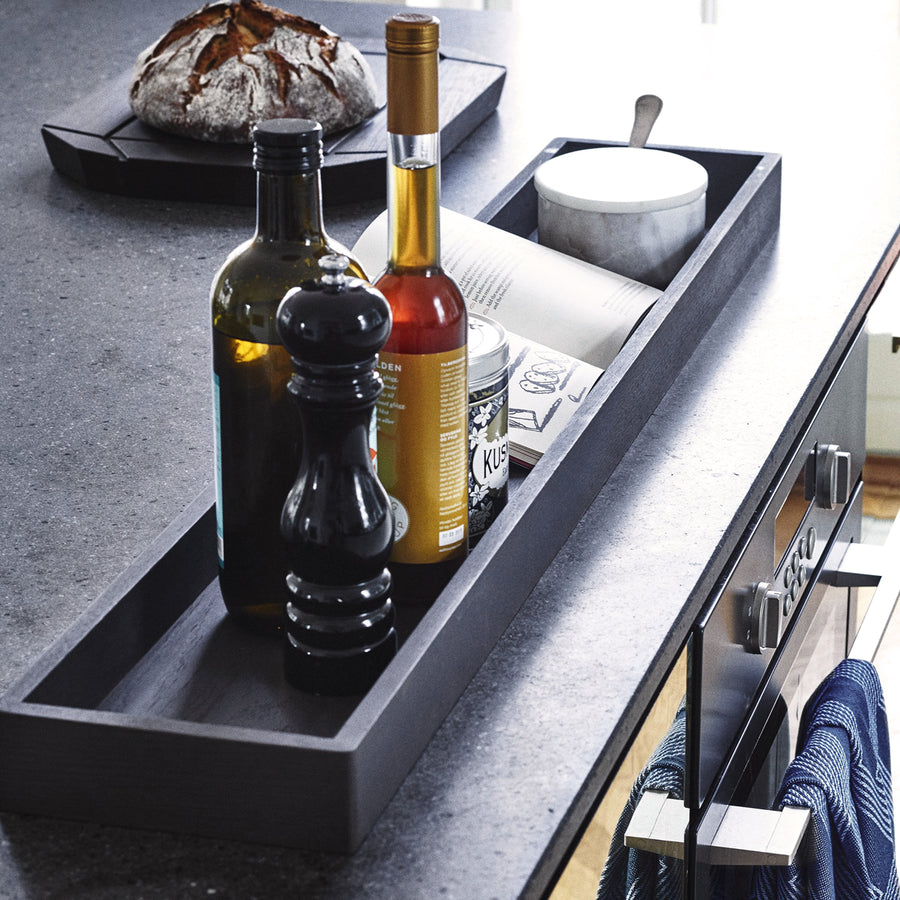 Long Black Oak Tray | Urban Avenue