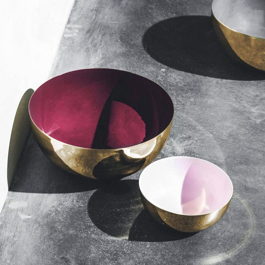 Brass & Enamel Fruit Bowl | Urban Avenue