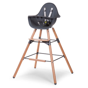 Evolu 2 High Chair in Anthracite/Natural | Urban Avenue