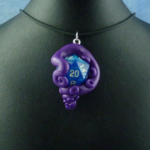 Purple and Blue Sparkle Sanity Check Necklace