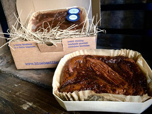 Chocolate Brownie caramel pecan in gift box delivered by post