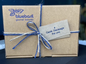 Chocolate brownie care package gift box