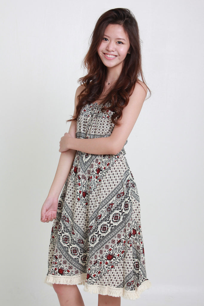 BLISS SUNDRESS - BROWN