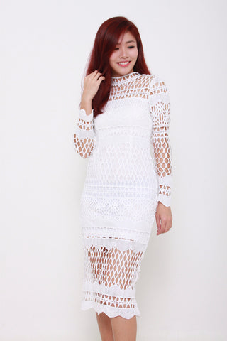 NUELLA EMBROIDERED ROMPER - WHITE
