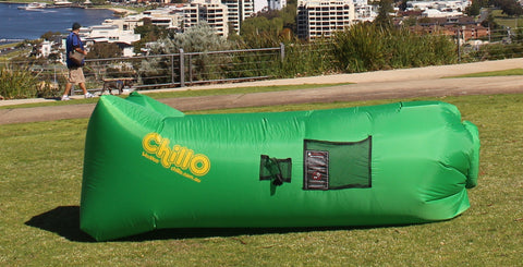 ***SALE*** Green ChillO WooHoo Premium Air Lounge ****NEW and IMPROVED rip-stop fabric ****