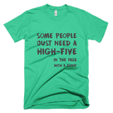 High-Five to the face - Short sleeve men's t-shirt, T-shirt - Kwotees