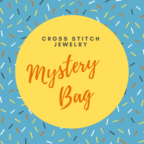 Mystery Grab Bag of Cross Stitch Jewelry