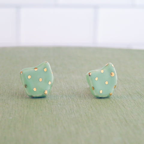 Ohio Gold Polka Dot Earrings