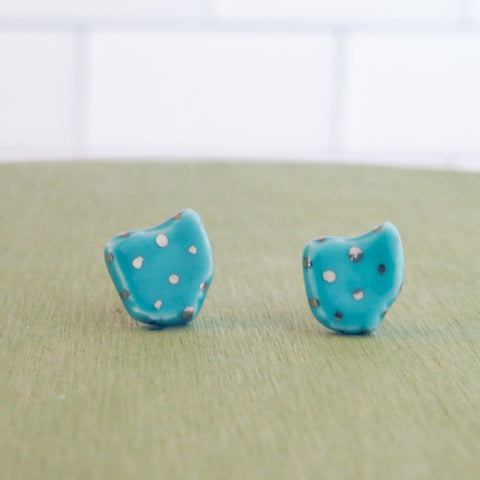 Ohio Silver Polka Dot Earrings