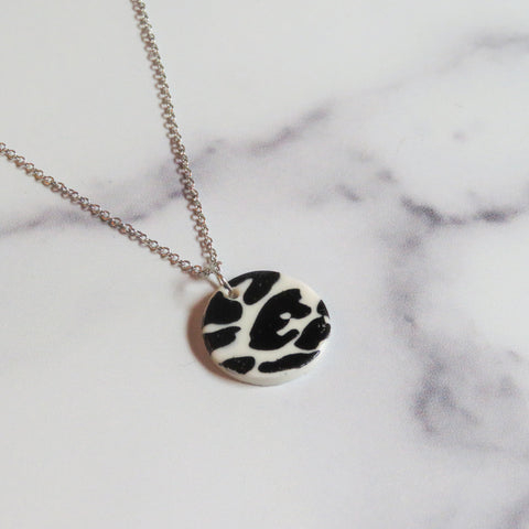Black Leopard Print Necklace
