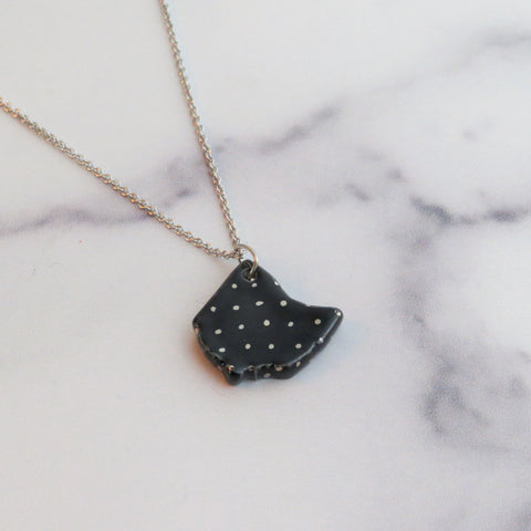 Ohio Large Silver Polka Dot Necklace