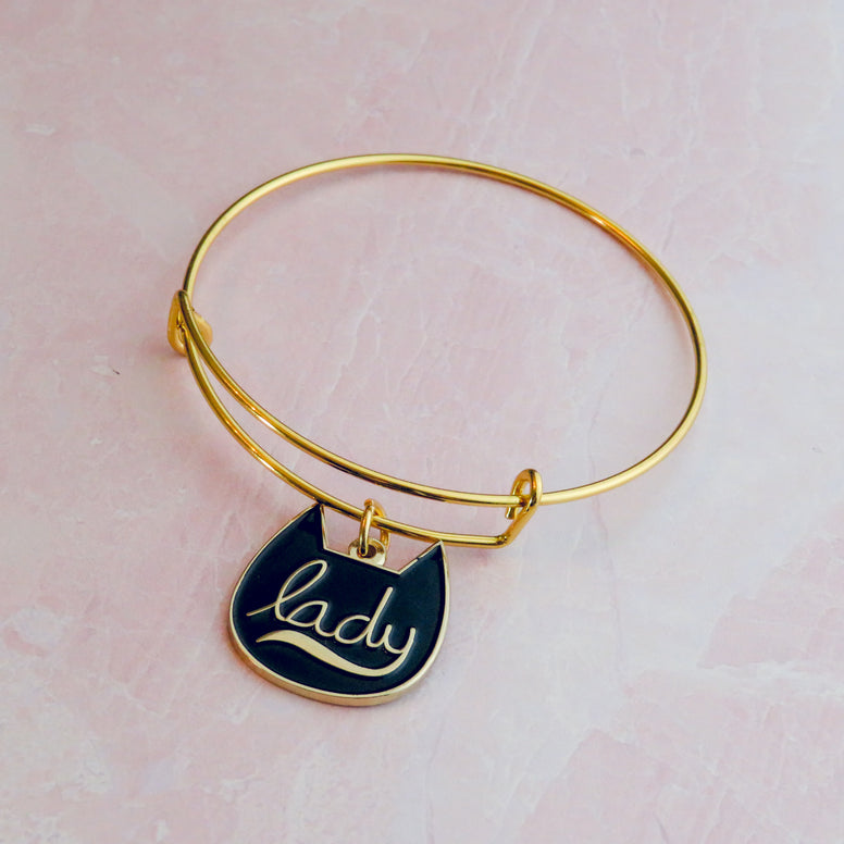 Enamel Cat Lady Bracelet
