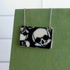 Multi Skulls Necklace in Black and White