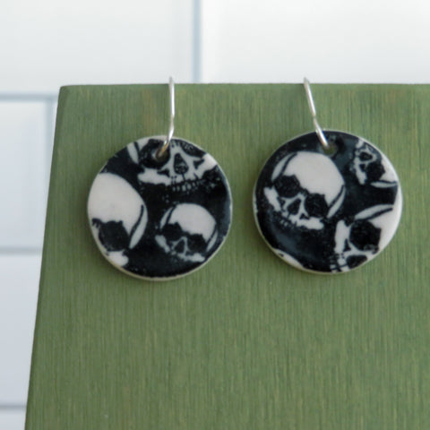 Multi Skulls Earrings in Black and White