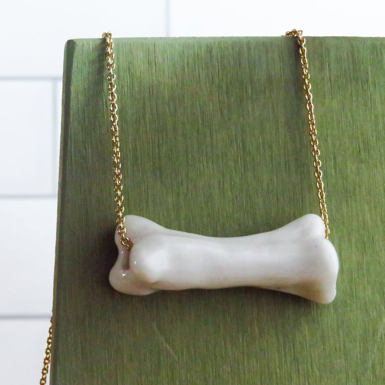 Bone Necklace in White
