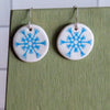 Blue Snowflake Dangle Earrings