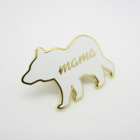 Gold Mama Bear Enamel Pin