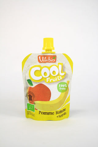 Cool fruits manzana y plátano Vitabio, 90 g