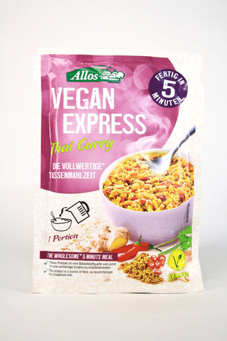 Avena, soja, cuscús thai curry Vegan express bio, 65 g