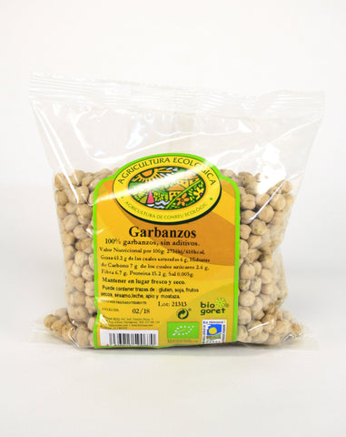 Garbanzos bio, 500 g