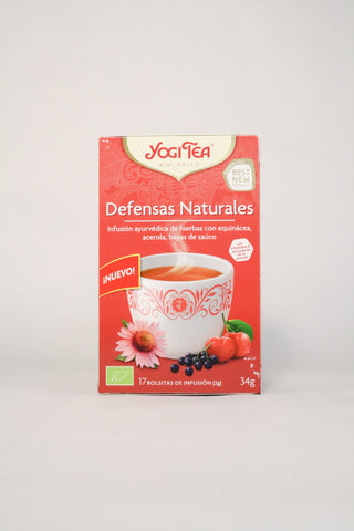 Yogi tea bio defensas naturales, 17 uds
