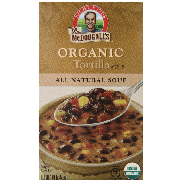 Dr. McDougall's Right Foods Organic Soup Tortilla 18 Ounce