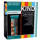 KIND Nuts & Spices Dark Chocolate Nuts & Sea Salt 1.4 Ounce 12 Count