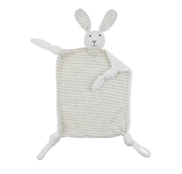 Grey French Stripe Jo Jo Bunny Dou Dou - Luxury Hampers
