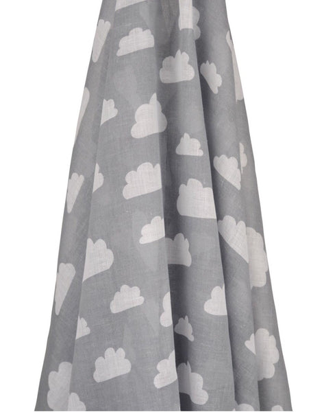 Grey Cloud Cotton Muslin Wrap - Luxury Hampers