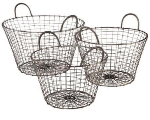 Robert Gordon Wire Baskets (set of 3) - Luxury Hampers