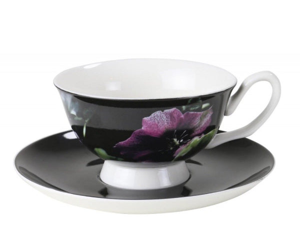 Robert Gordon Hellebore teacup and saucer - Luxury Hampers