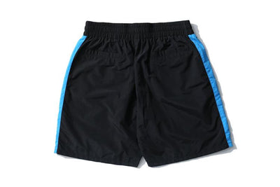 Black + Blue Track Shorts