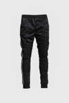 Striped Track Pants - Black
