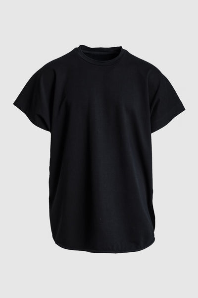Oversized Round Neck T-Shirt - Black