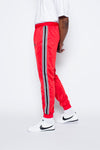 Striped Track Pants - Red