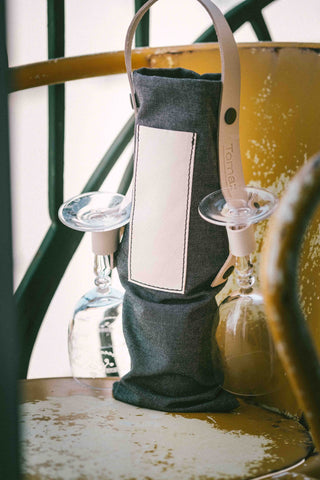 Cheers _ wine tote bag _ grey